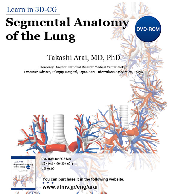 Learn in 3D-CG:Segmental Anatomy of the Lung